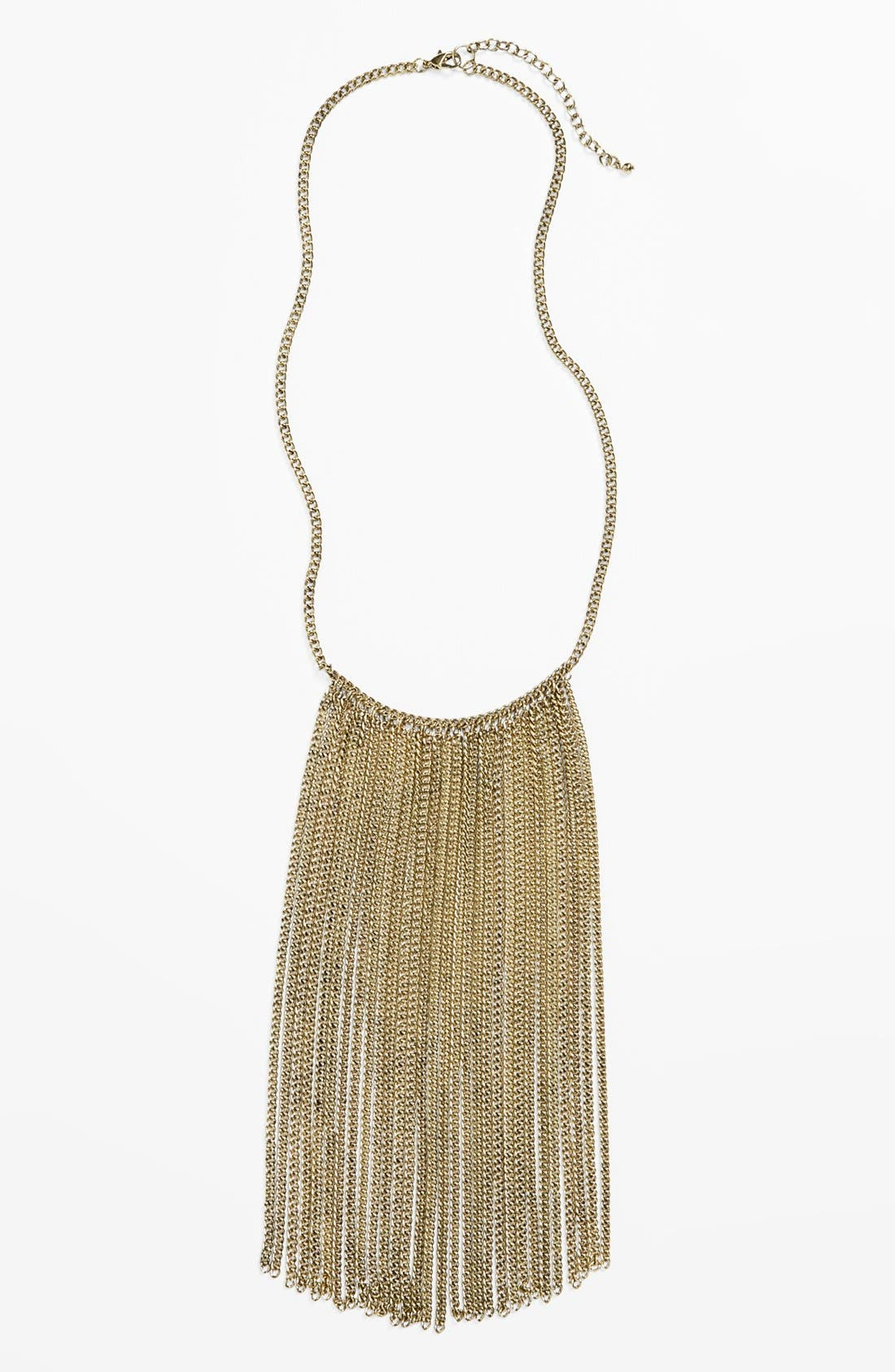 Main Image - Stephan & Co. Chain Fringe Necklace (Juniors)