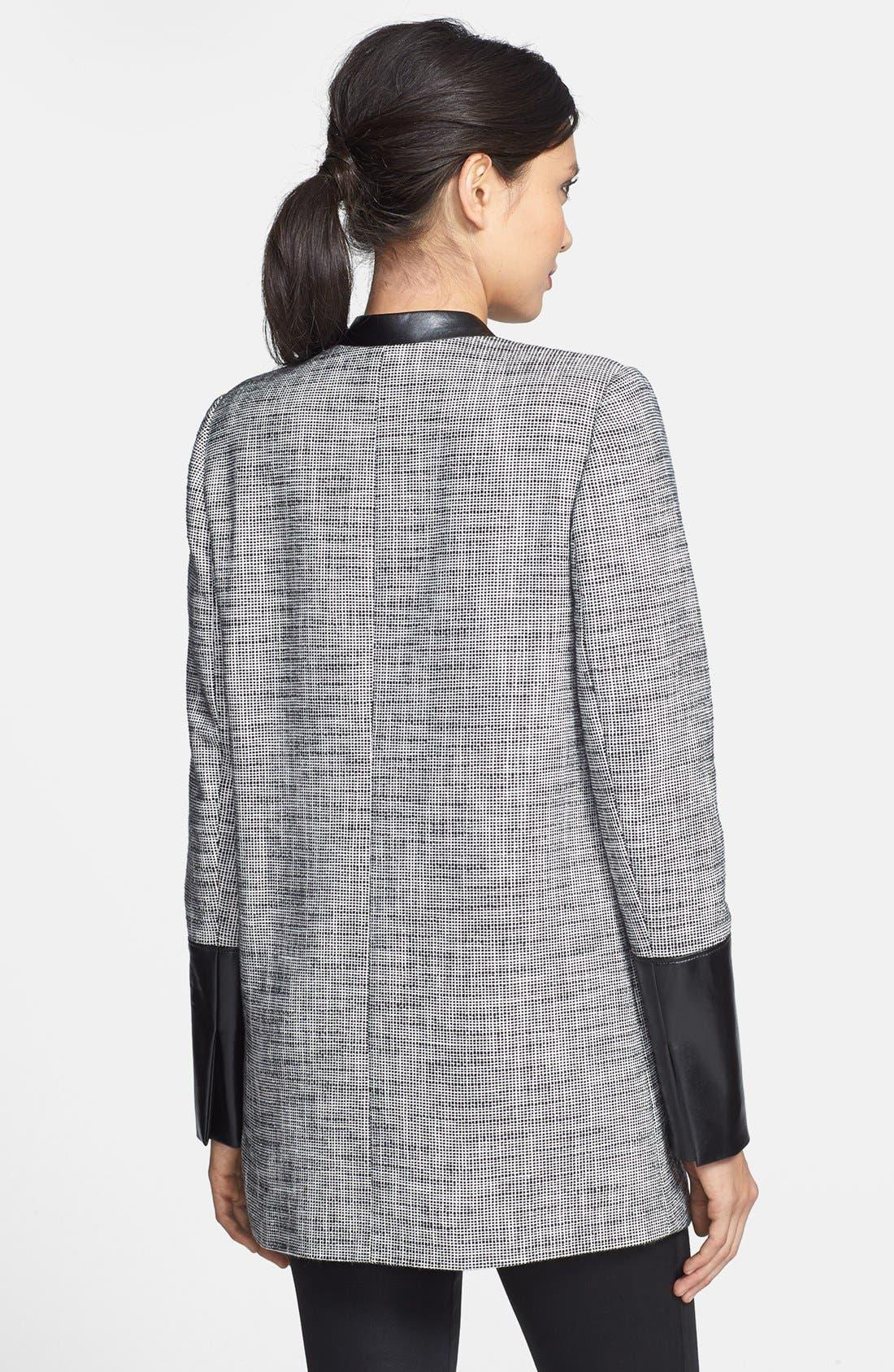 Alternate Image 2  - Trouvé Leather Trim Tweed Coat