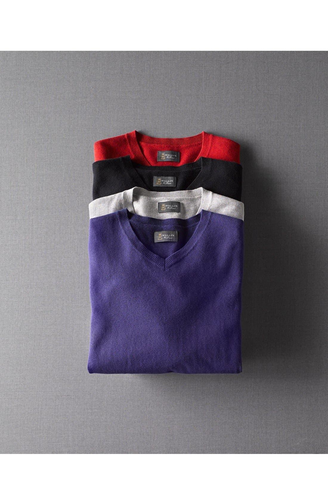 Alternate Image 4  - Wallin & Bros. Trim Fit V-Neck Cotton & Cashmere Sweater