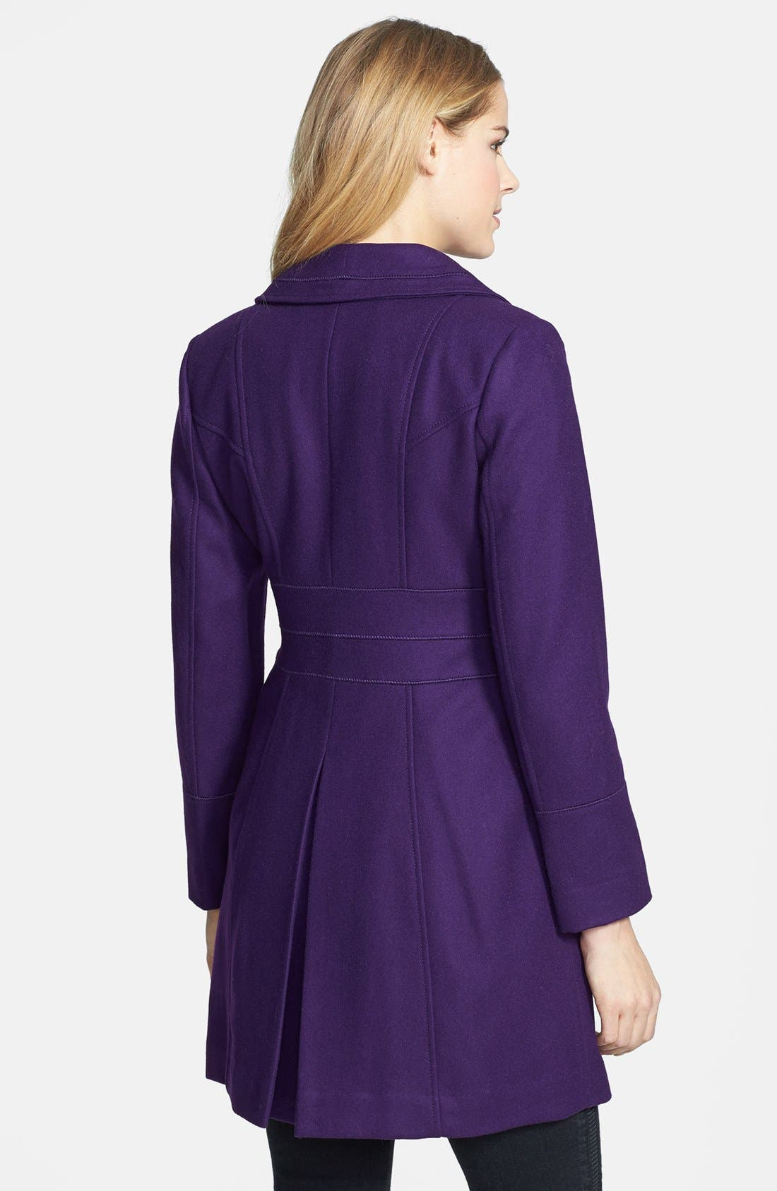 Alternate Image 2  - GUESS Exaggerated Collar Wool Blend Coat (Petite)