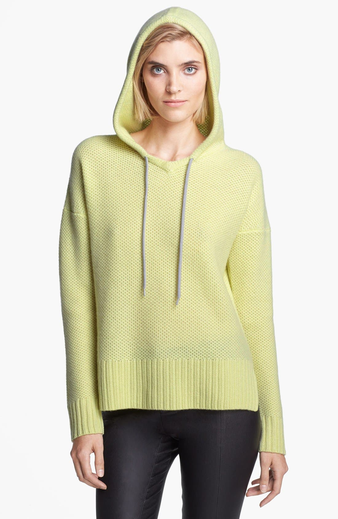 Alternate Image 3  - autumn cashmere Honeycomb Stitch Cashmere Hoodie