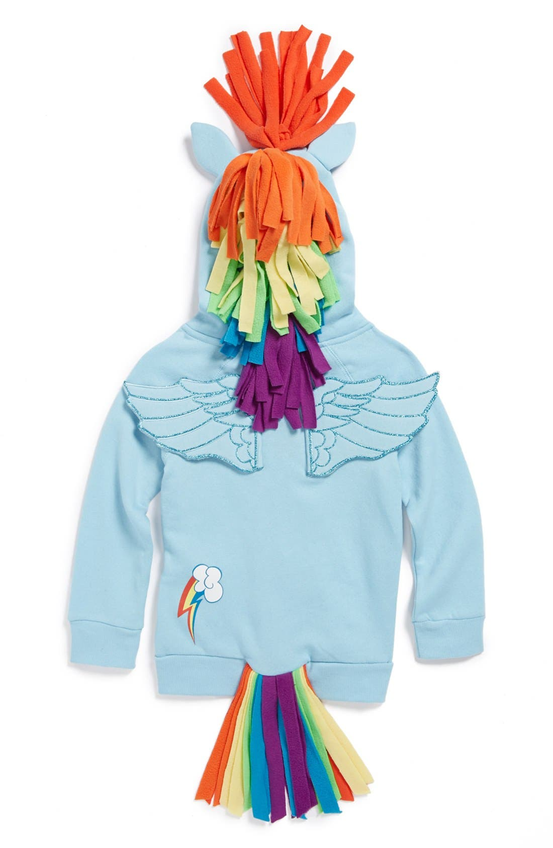 Alternate Image 2  - Mighty Fine 'My Little Pony® - Rainbow Dash®' Hoodie (Little Girls)