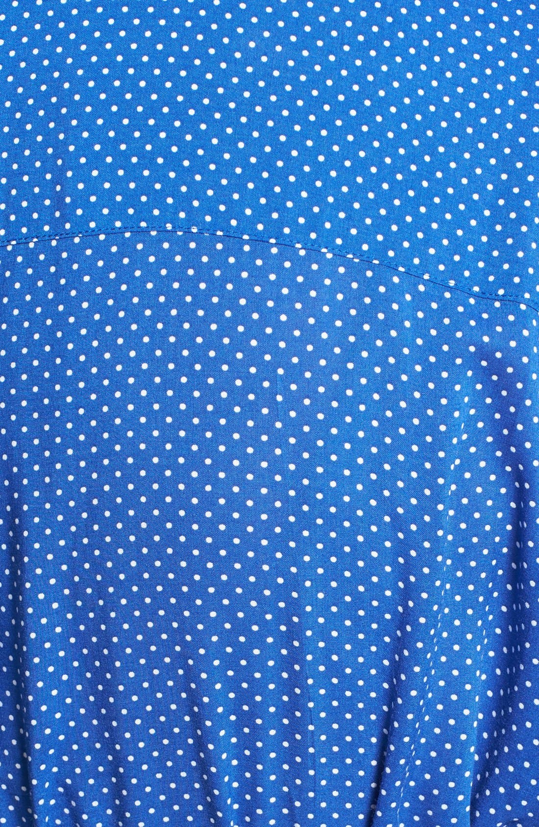 Alternate Image 3  - Foxcroft Dot Print Shirtdress (Plus Size)