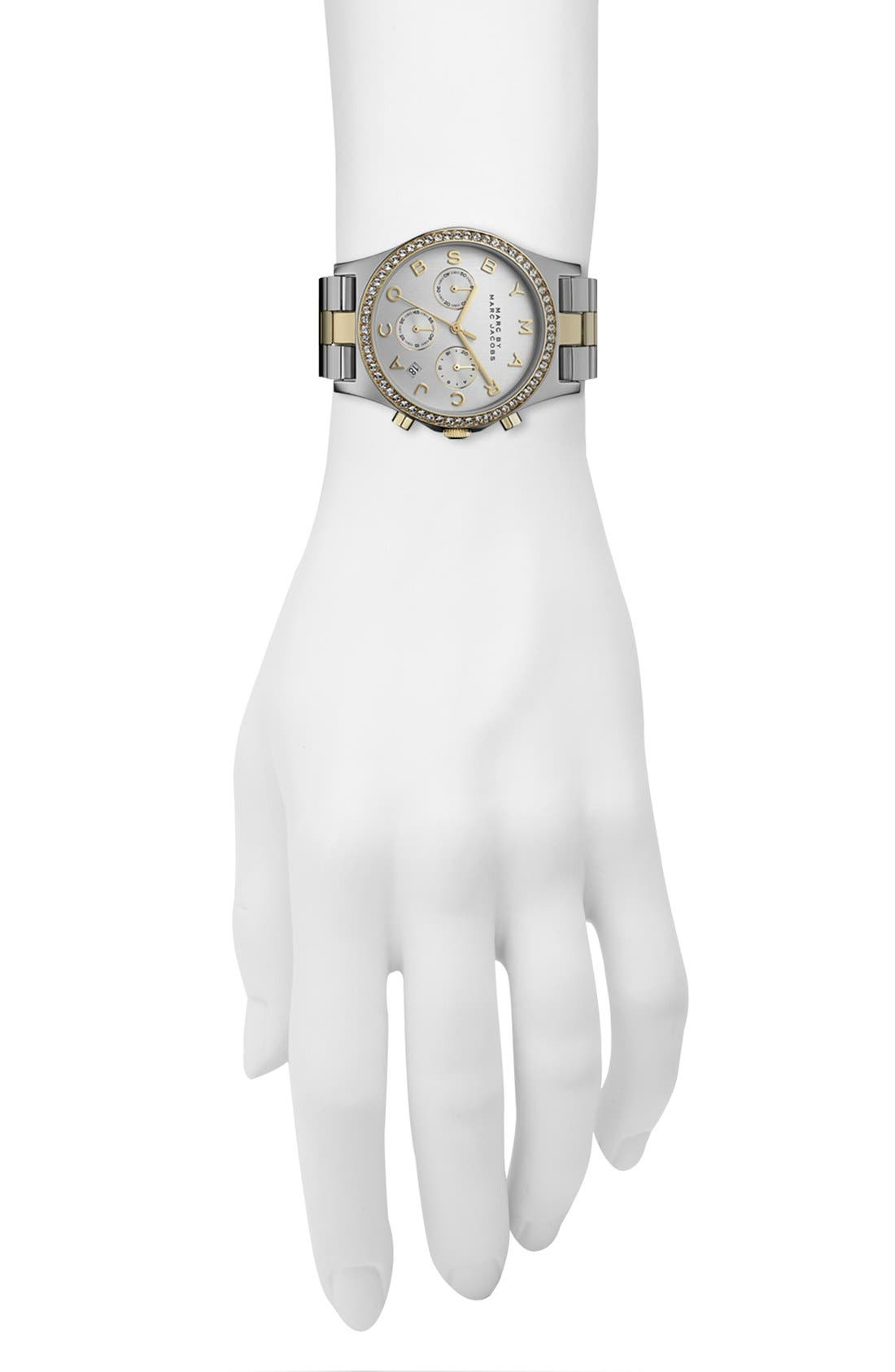 Alternate Image 4  - MARC JACOBS 'Henry' Chronograph & Crystal Topring Watch, 40mm