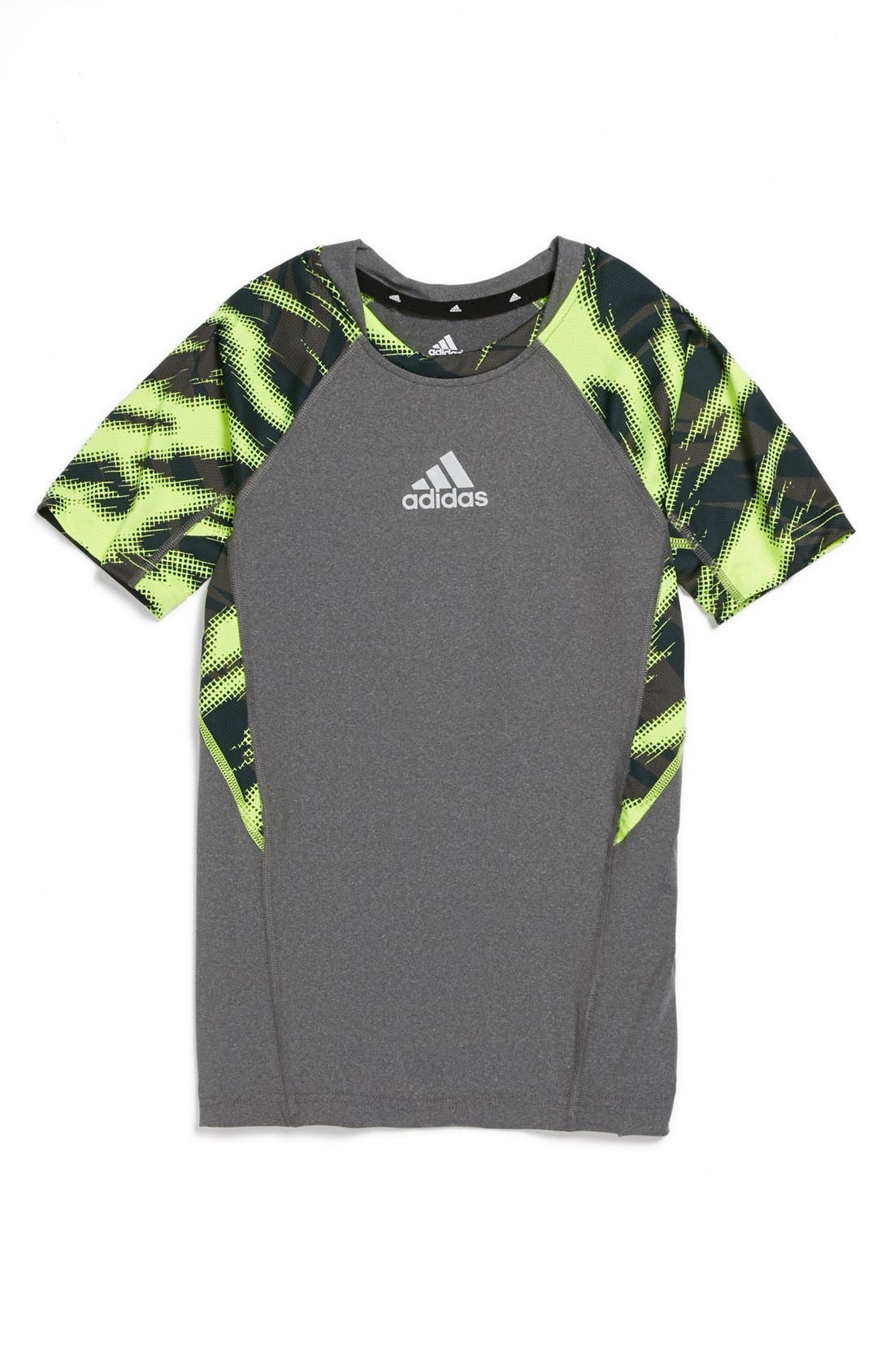 Alternate Image 1 Selected - adidas Tech Fit Performance T-Shirt (Big Boys)