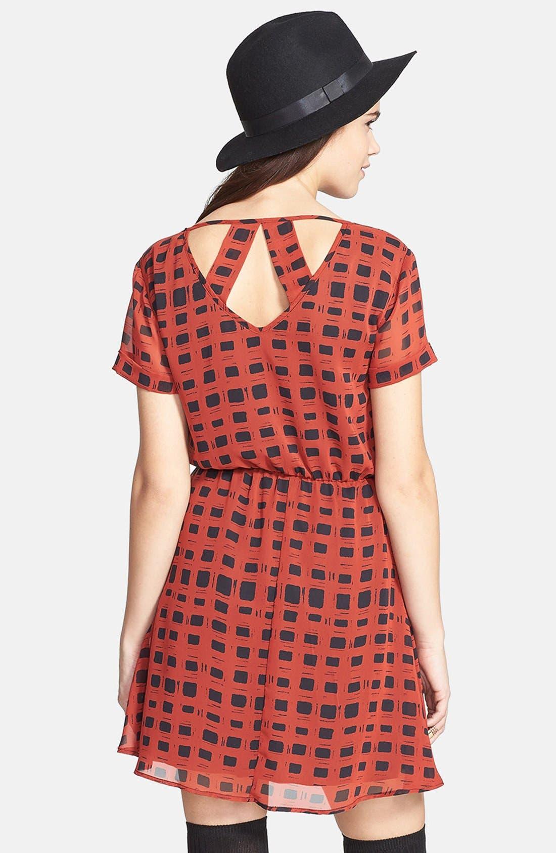 Alternate Image 2  - dee elle 'Milly' Chiffon Skater Dress (Juniors)