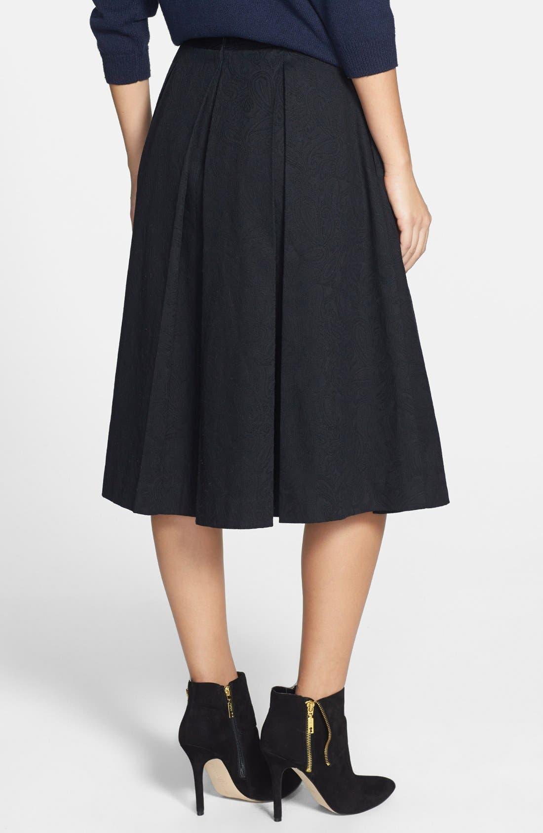 Alternate Image 2  - Tildon Pleated Jacquard Midi Skirt