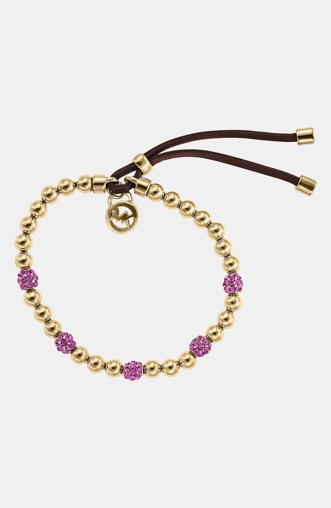 Alternate Image 1 Selected - Michael Kors Bead & Crystal Stretch Bracelet