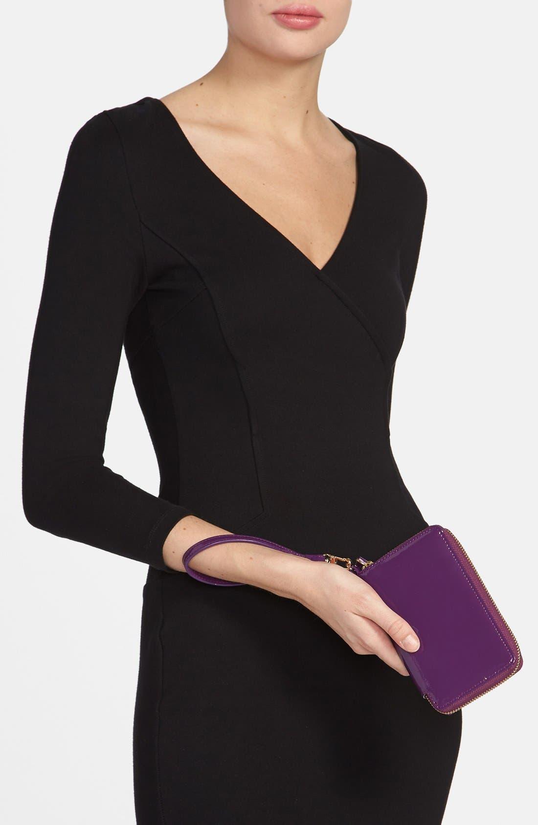 Alternate Image 4  - Halogen® 'Cassie' Crinkle Patent Leather Phone Wallet