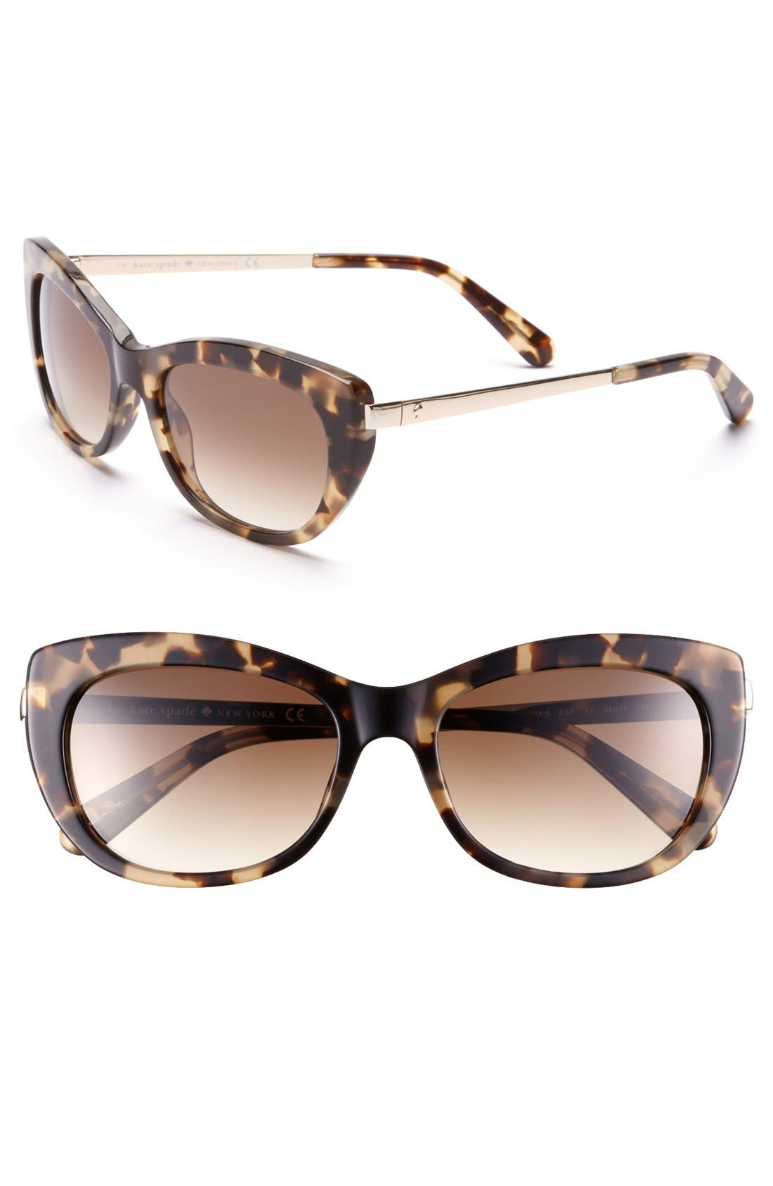 Main Image - kate spade new york 53mm retro sunglasses