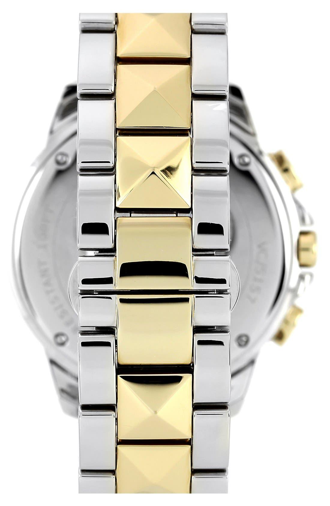 Alternate Image 2  - Vince Camuto Multifunction Pyramid Bracelet Watch, 42mm