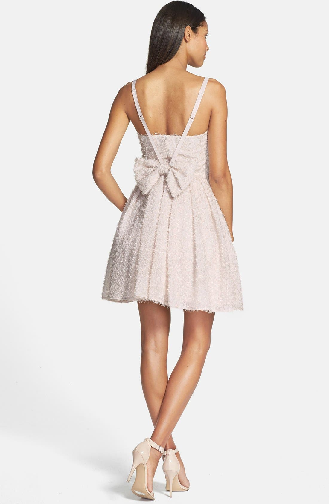 Alternate Image 2  - French Connection 'Glitter Whisper' Back Bow Fit & Flare Dress