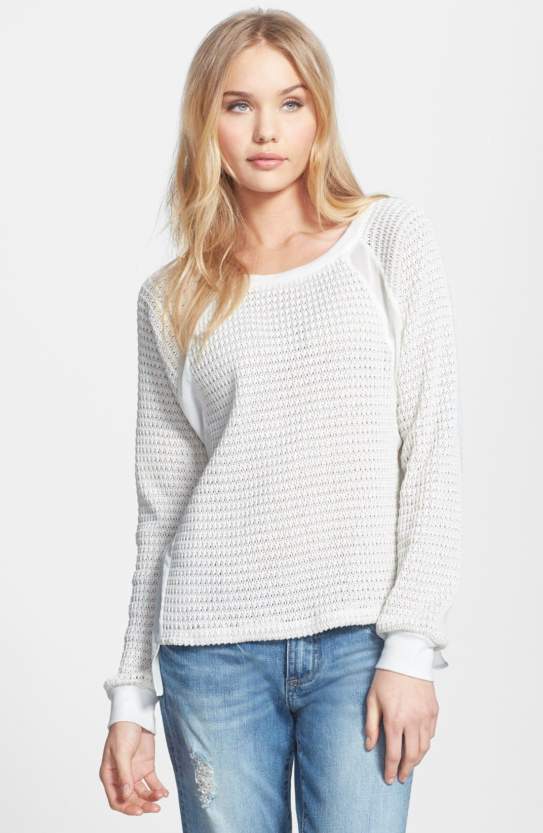 Alternate Image 1 Selected - Sanctuary 'Mix & Match' Contrast Panel Sweater