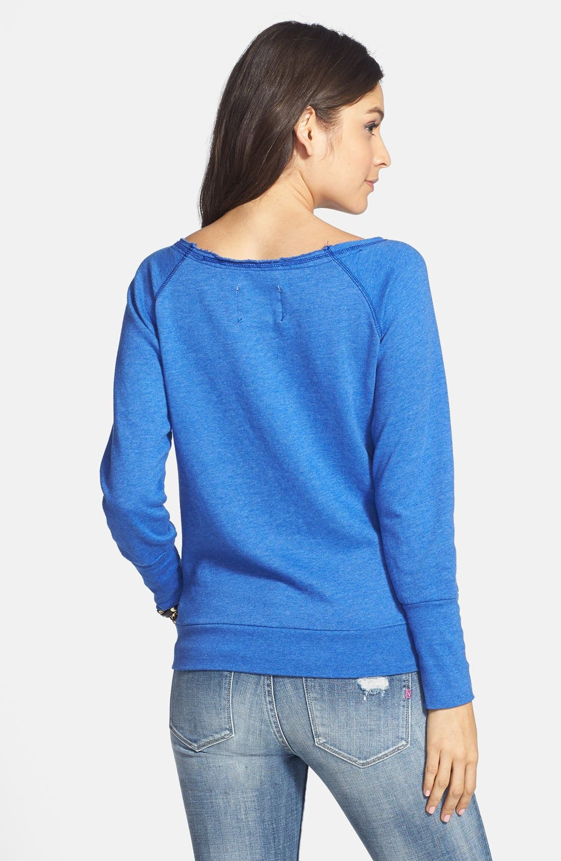 Alternate Image 2  - Sportiqe 'Los Angeles Clippers' Wide Neck Fleece Sweatshirt (Juniors) (Online Only)