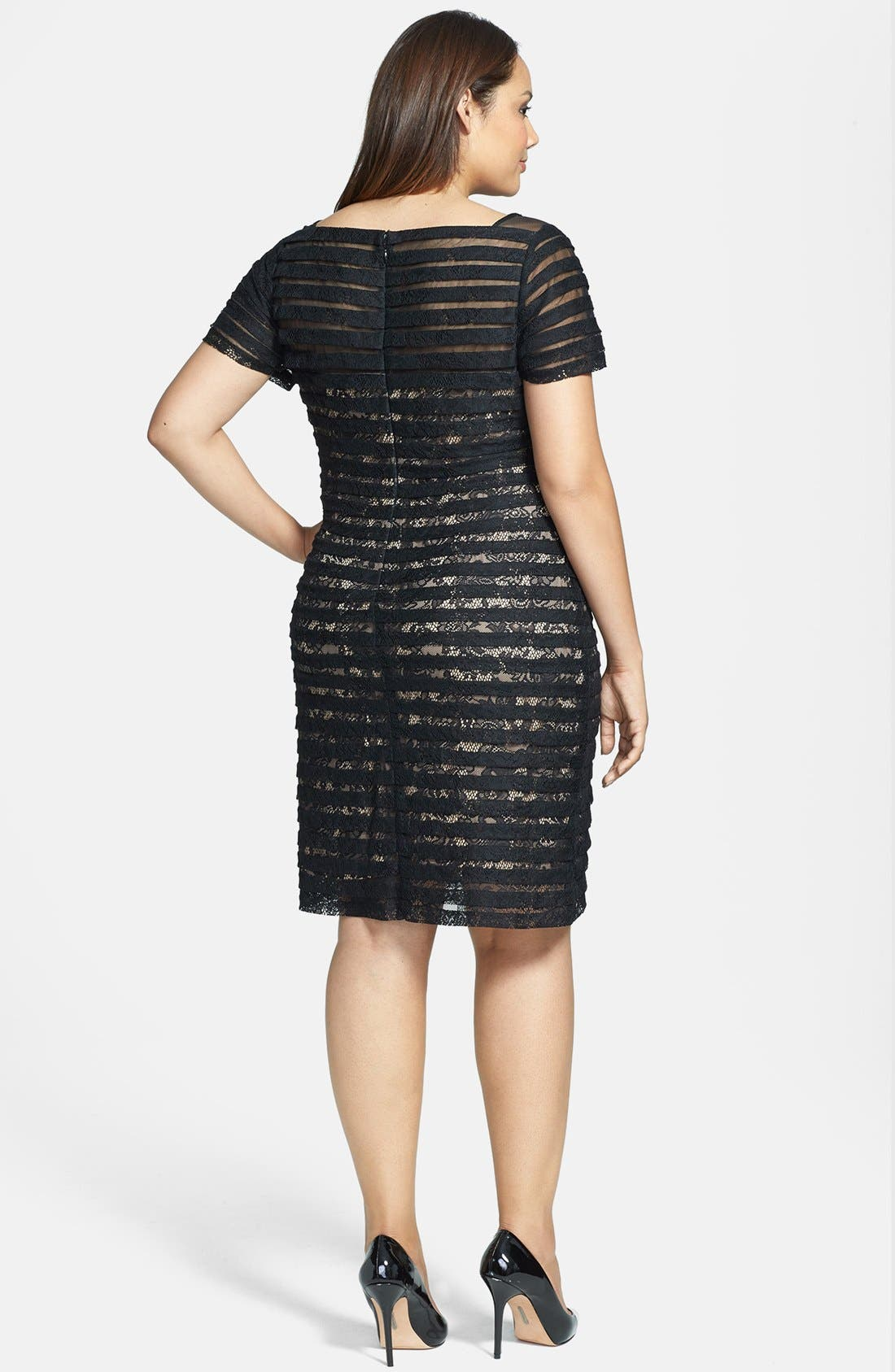 Alternate Image 2  - Adrianna Papell Banded Illusion Sheath Dress (Plus Size)