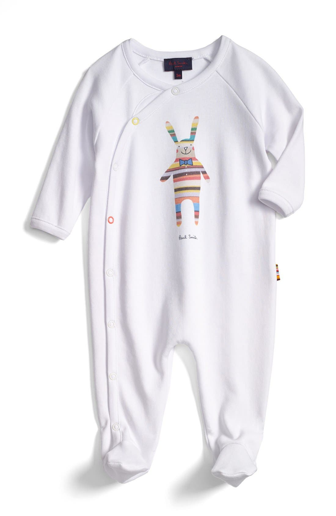 Alternate Image 1 Selected - Paul Smith Junior Cotton One-Piece (Baby Boys)