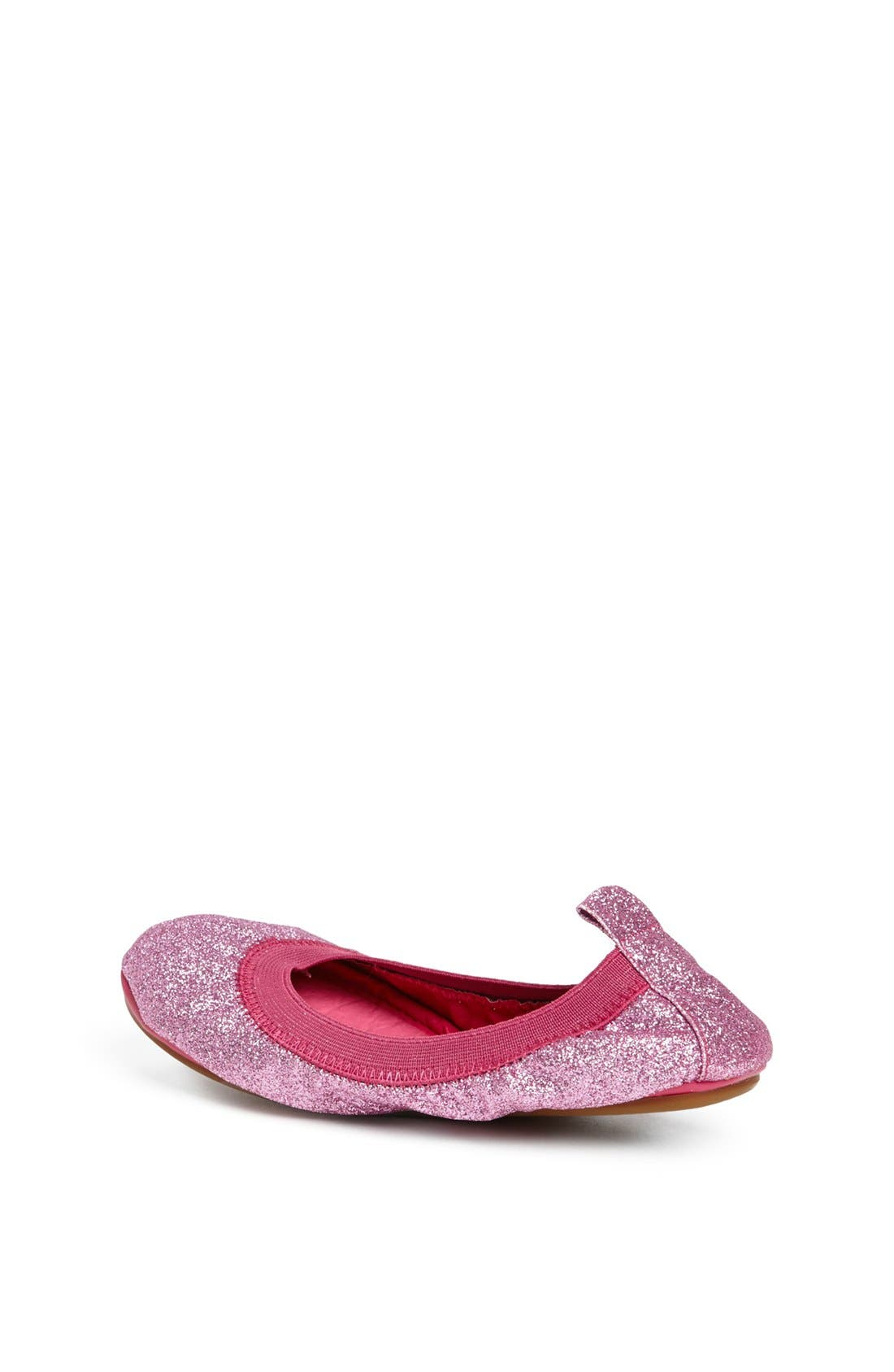 Alternate Image 2  - Yosi Samra Glitter Foldable Ballet Flat (Toddler, Little Kid & Big Kid)