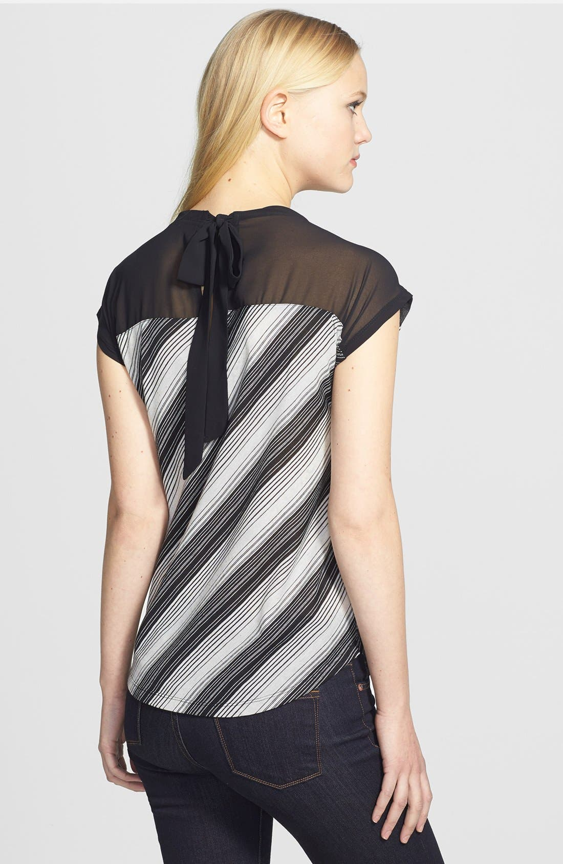 Main Image - Two by Vince Camuto 'Close Stripe' Back Tie Top