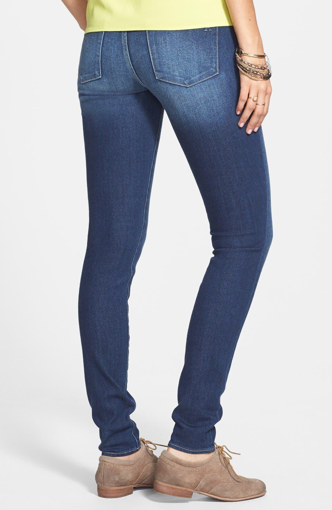 Alternate Image 2  - Articles of Society 'Mya' Skinny Jeans (Dark) (Juniors)