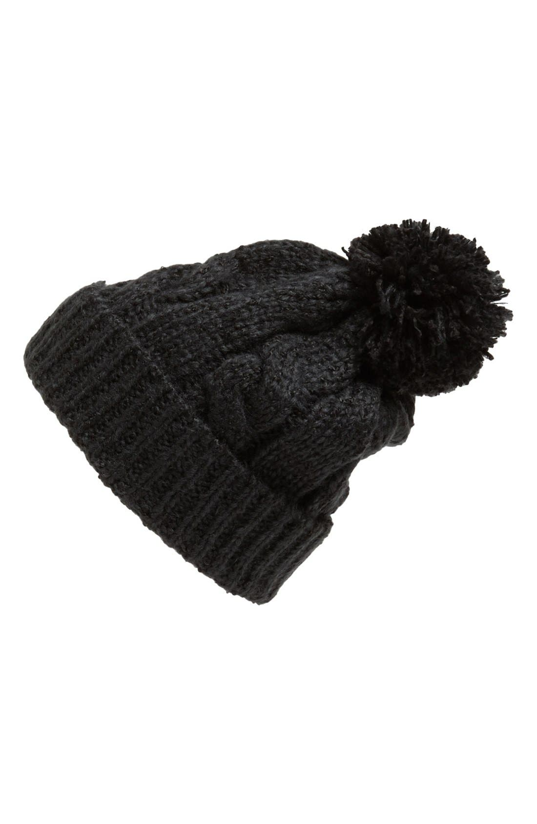 Alternate Image 1 Selected - BP. Two-Tone Pompom Beanie (Juniors)