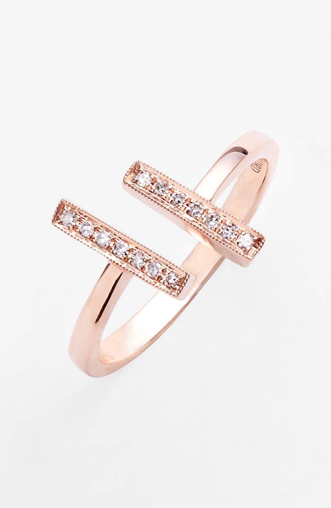 Alternate Image 1 Selected - Dana Rebecca Designs 'Sylvie Rose' Diamond Open Ring