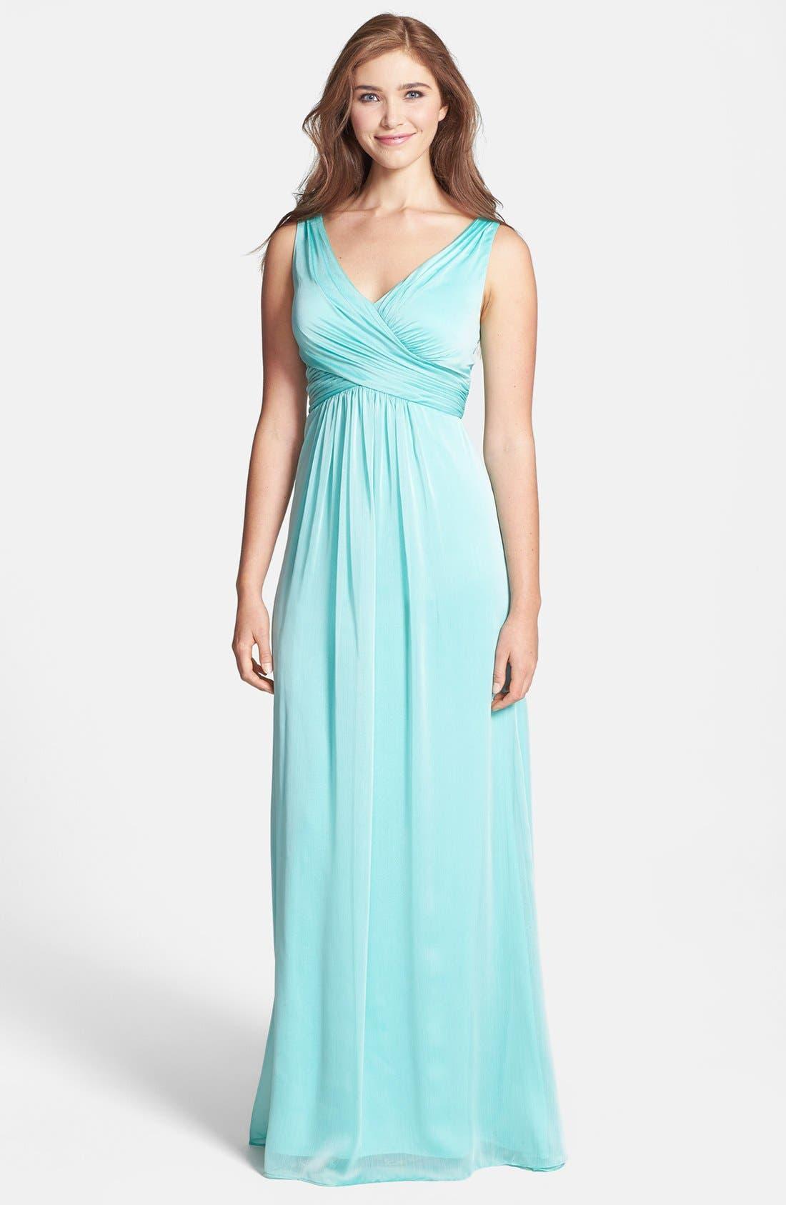 Alternate Image 1 Selected - Adrianna Papell Crisscross Chiffon Dress