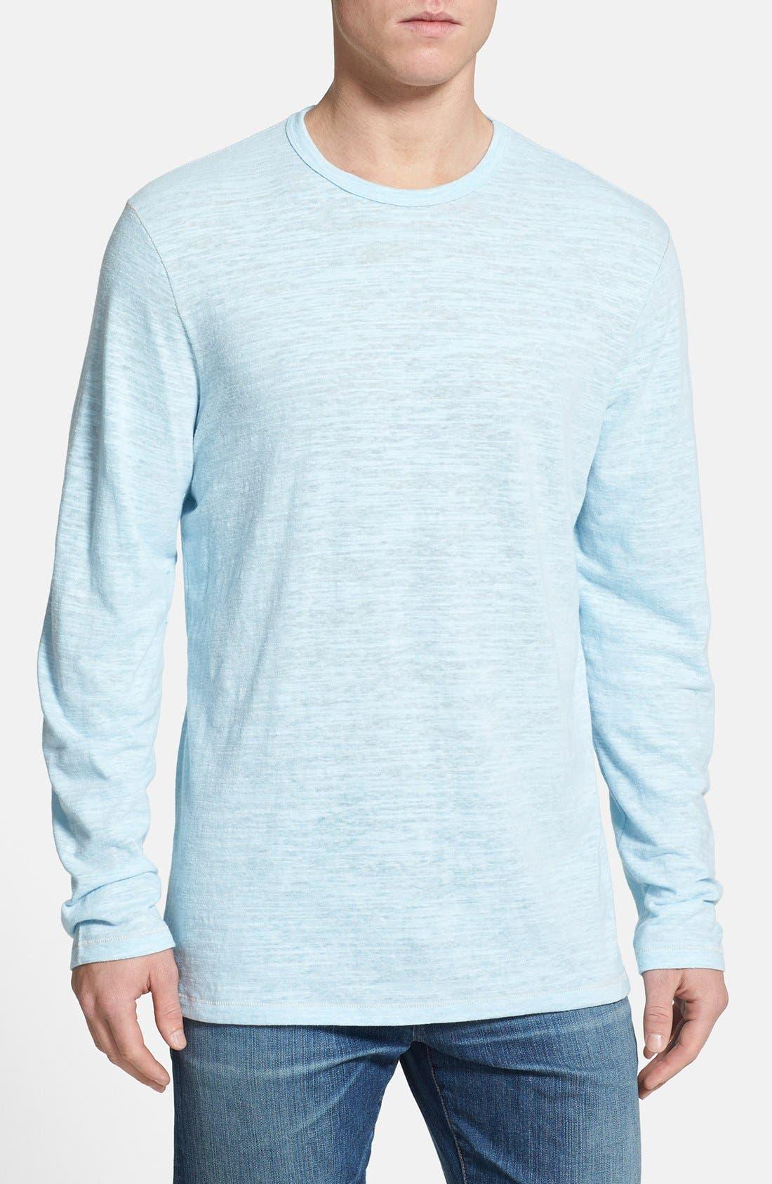Main Image - Tommy Bahama 'Sunday Best' Long Sleeve Heathered T-Shirt