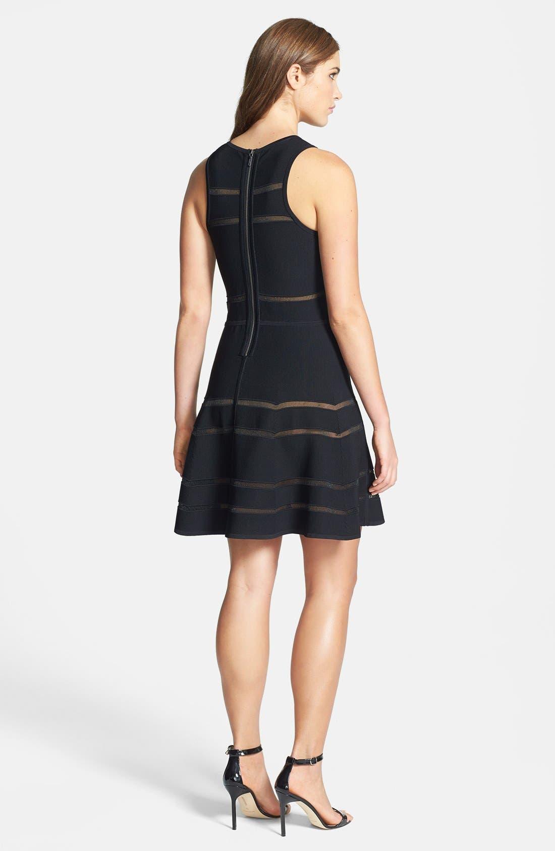 Alternate Image 2  - Nicole Miller 'Cody' Banded Knit Fit & Flare Dress