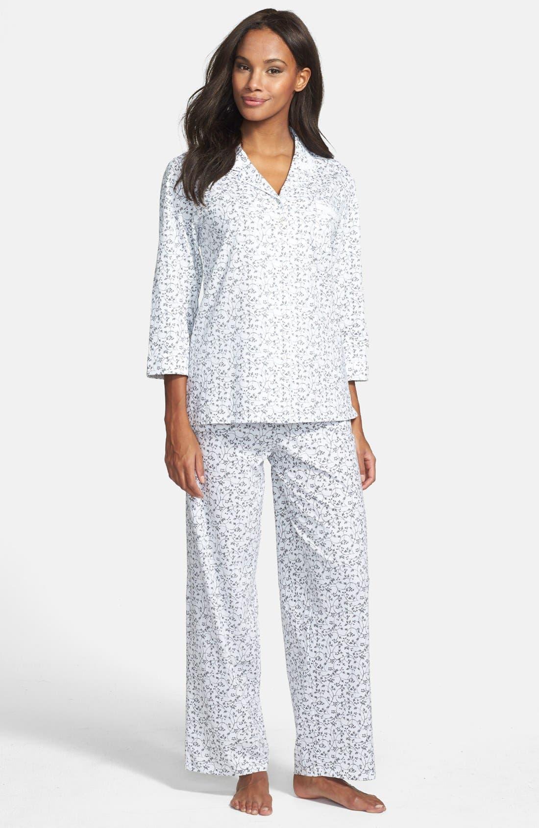 Alternate Image 1 Selected - Eileen West 'Perfect Verse' Pima Cotton Pajamas