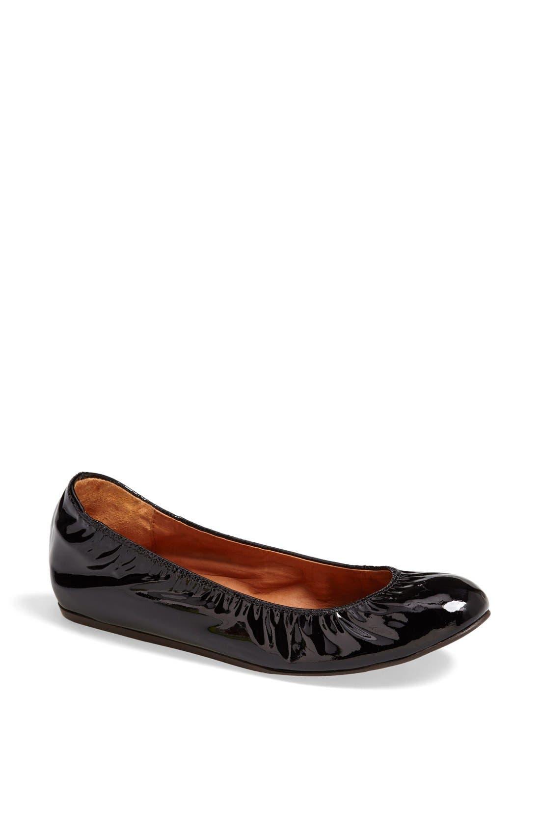 Alternate Image 1 Selected - Lanvin Patent Leather Ballerina Flat