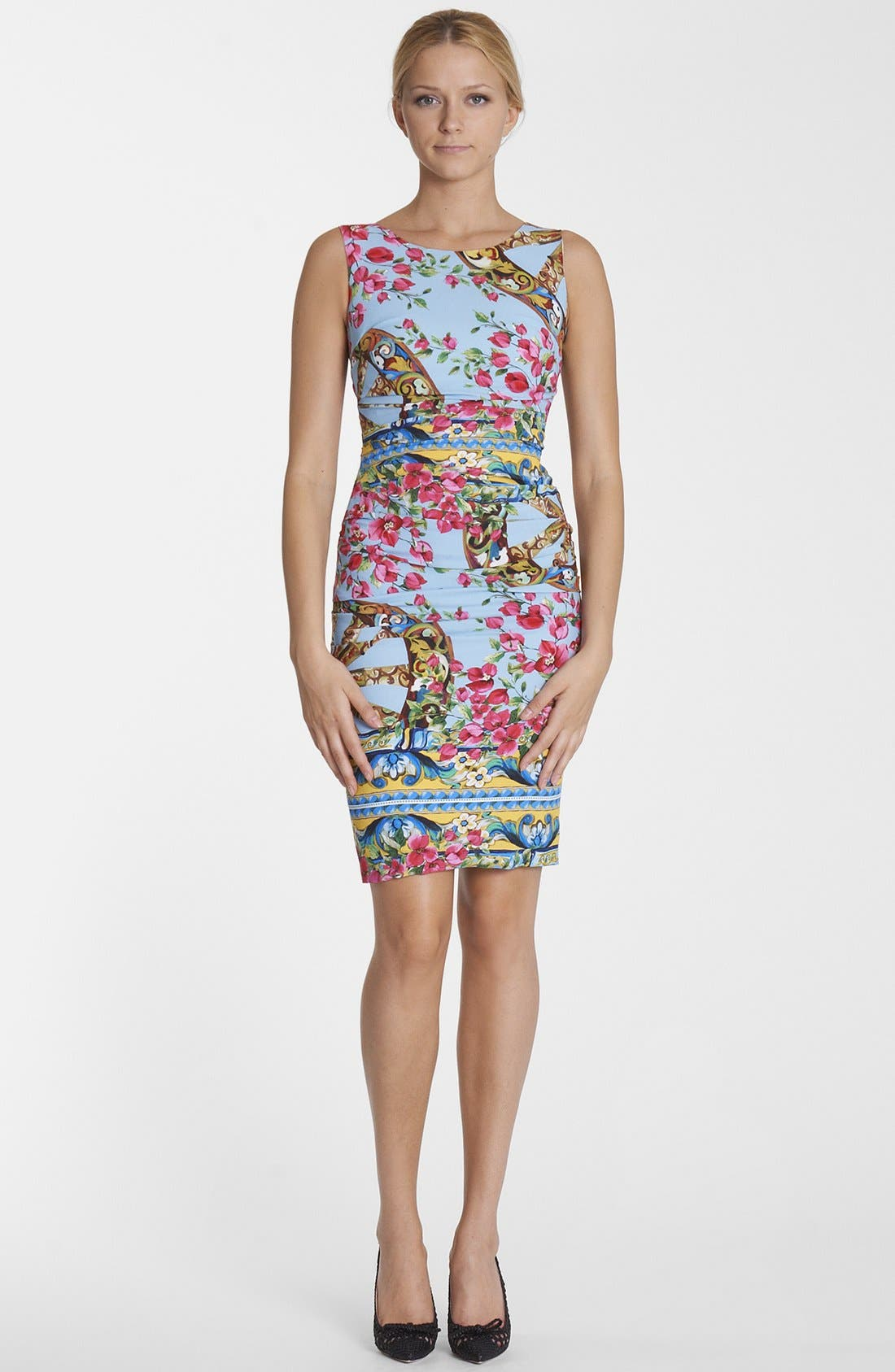 Main Image - Dolce&Gabbana Bougainvillea Print Dress