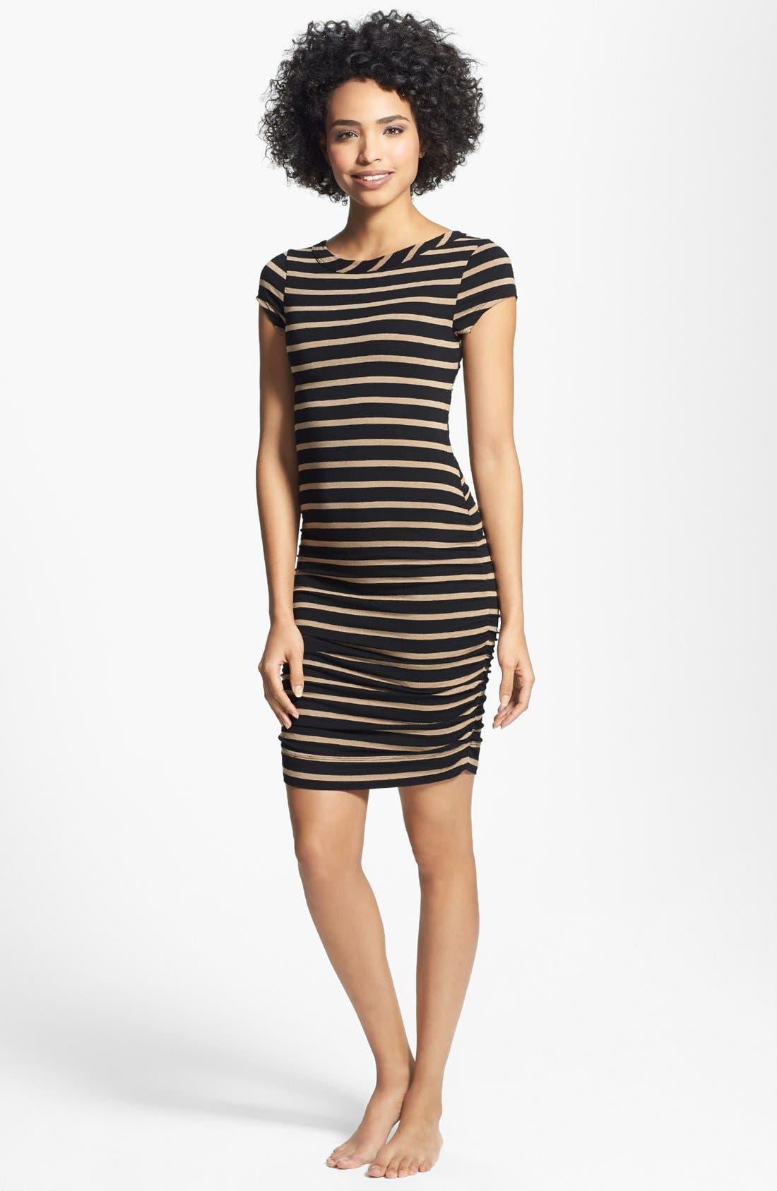 Alternate Image 2  - Hard Tail Wrap Back Stripe Dress