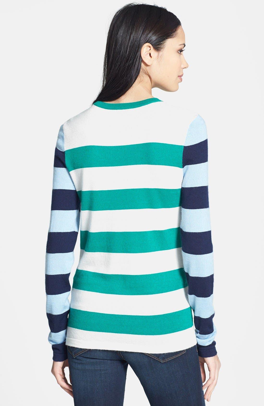 Alternate Image 2  - Equipment 'Violet' Stripe Cashmere Blend Sweater