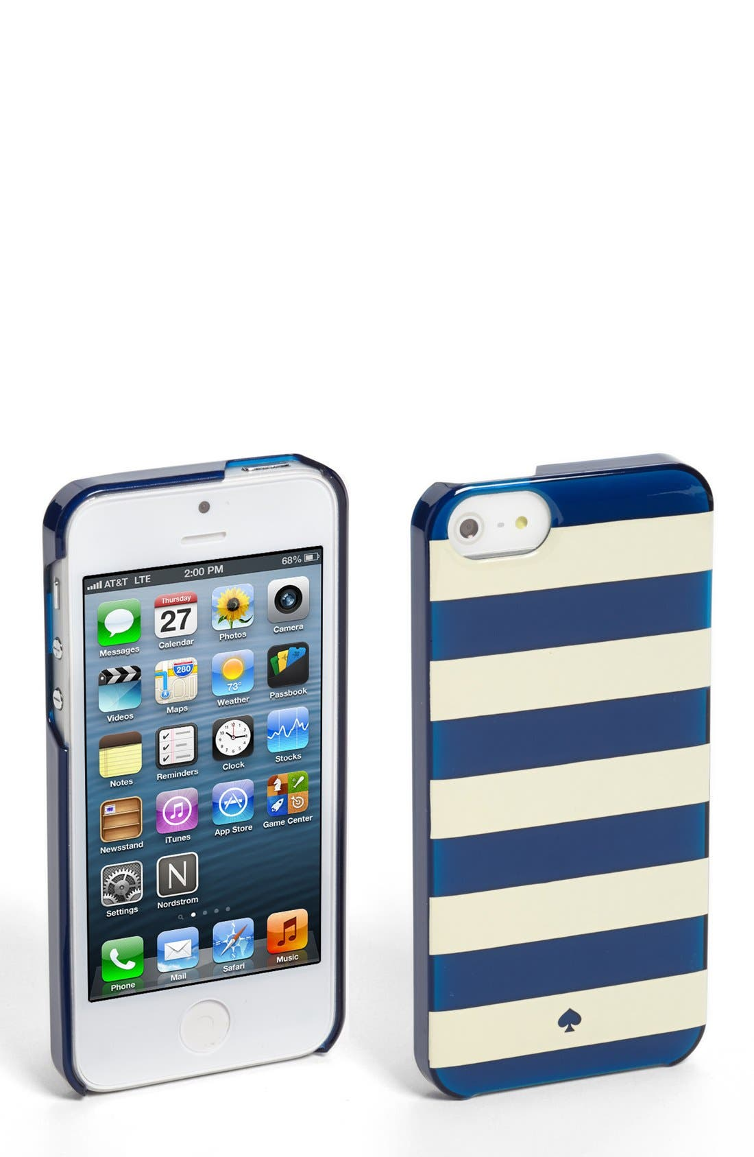 Alternate Image 1 Selected - kate spade new york 'jewel stripe' iPhone 5 & 5s case