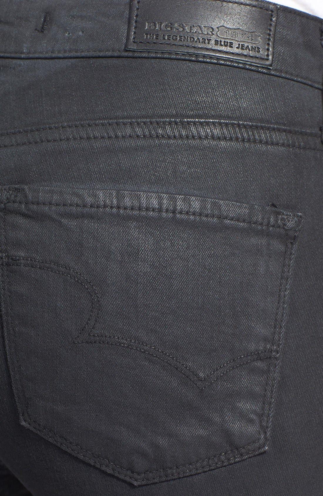 Alternate Image 3  - Big Star 'Alex' Skinny Jeans (Gotham) (Petite)