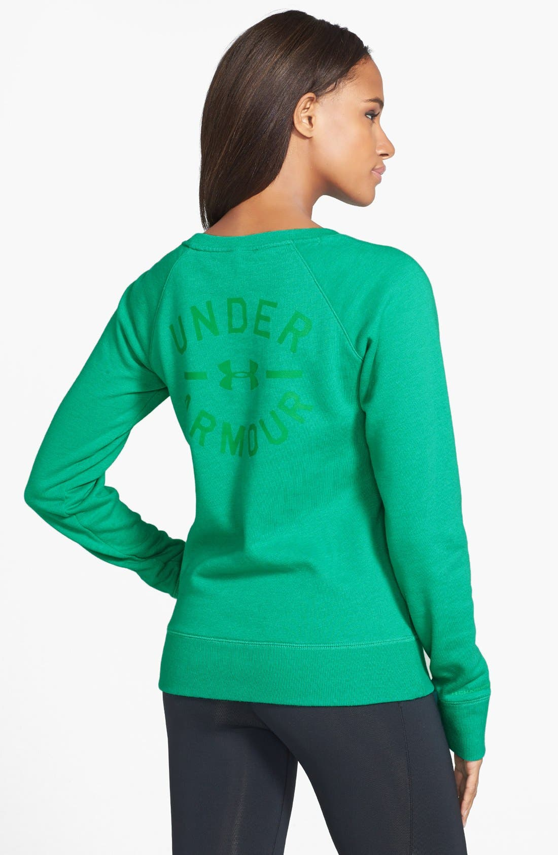 Alternate Image 2  - Under Armour 'Legacy' Charged Cotton® Crewneck Top