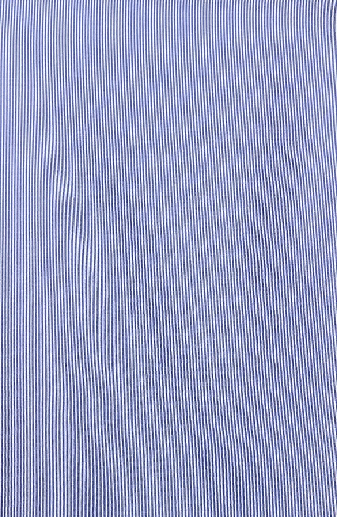 Alternate Image 3  - Lafayette 148 New York 'Piano Stripe' Roll Sleeve Cotton Shirt