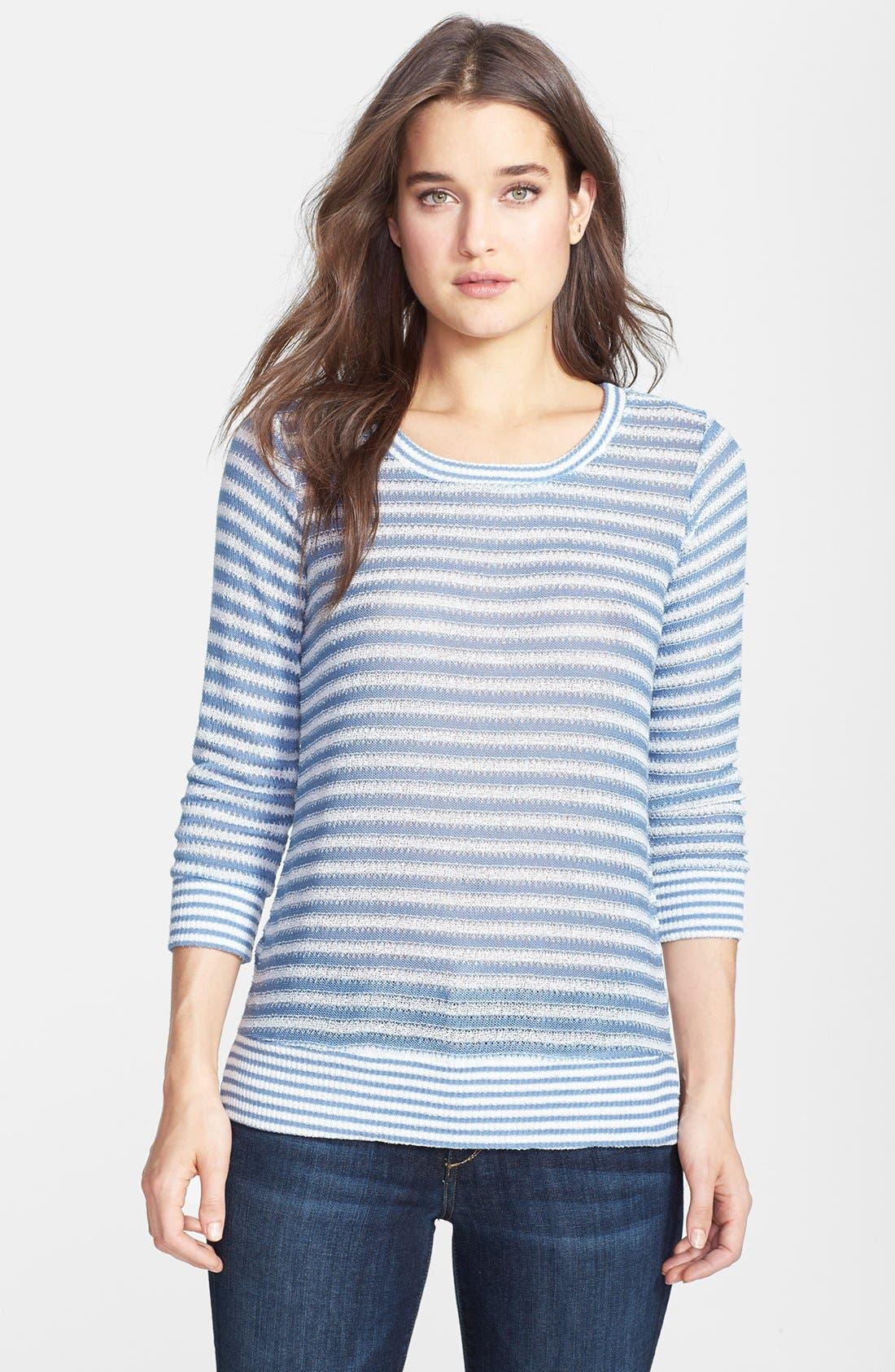 Alternate Image 1 Selected - Splendid Pointelle Stripe Knit Pullover