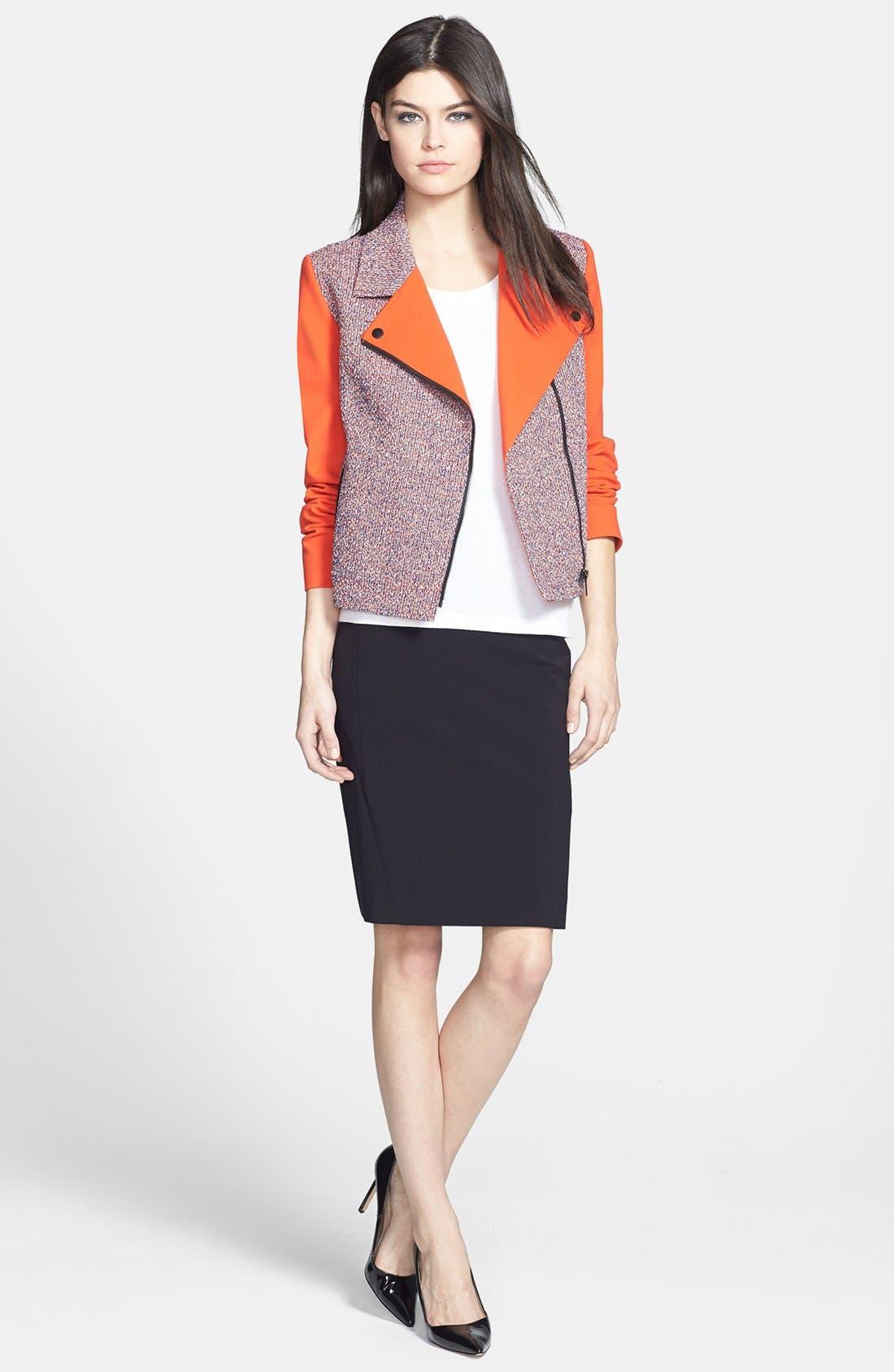 Alternate Image 4  - Classiques Entier® 'Carlotta' Tweed & Ponte Moto Jacket