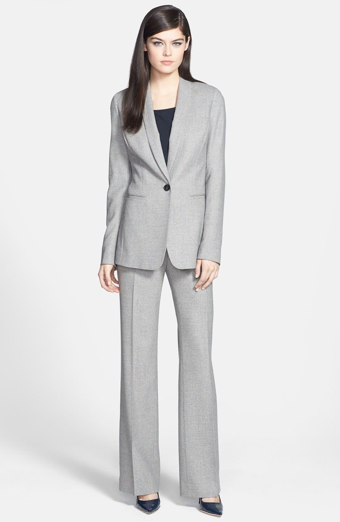 Alternate Image 3  - Lafayette 148 New York Silk Blend Pants