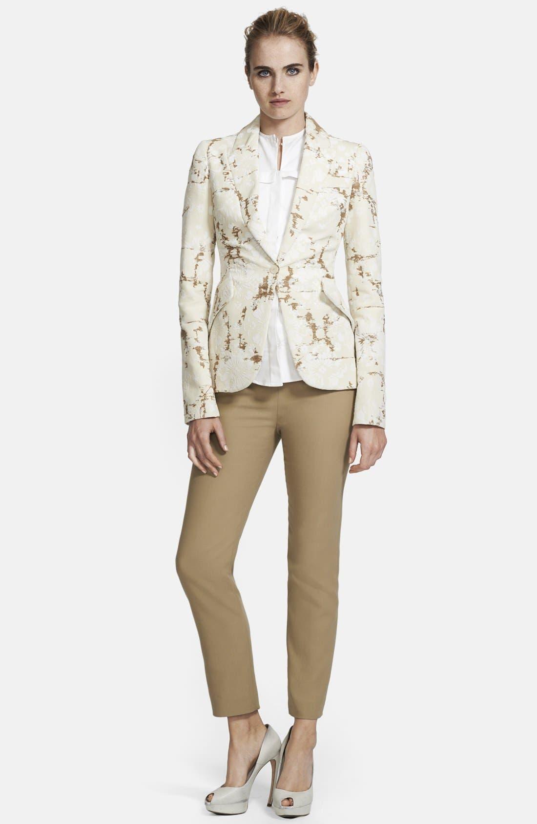 Alternate Image 1 Selected - Alexander McQueen Flocked Cotton Jacquard Blazer