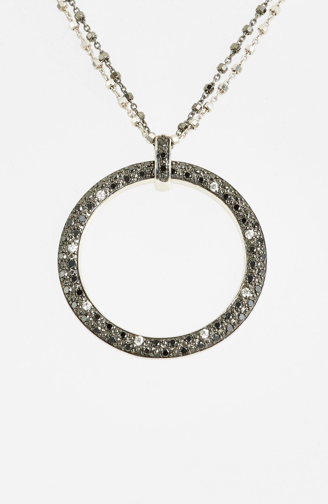 Alternate Image 2  - ALOR® Diamond Pendant Necklace