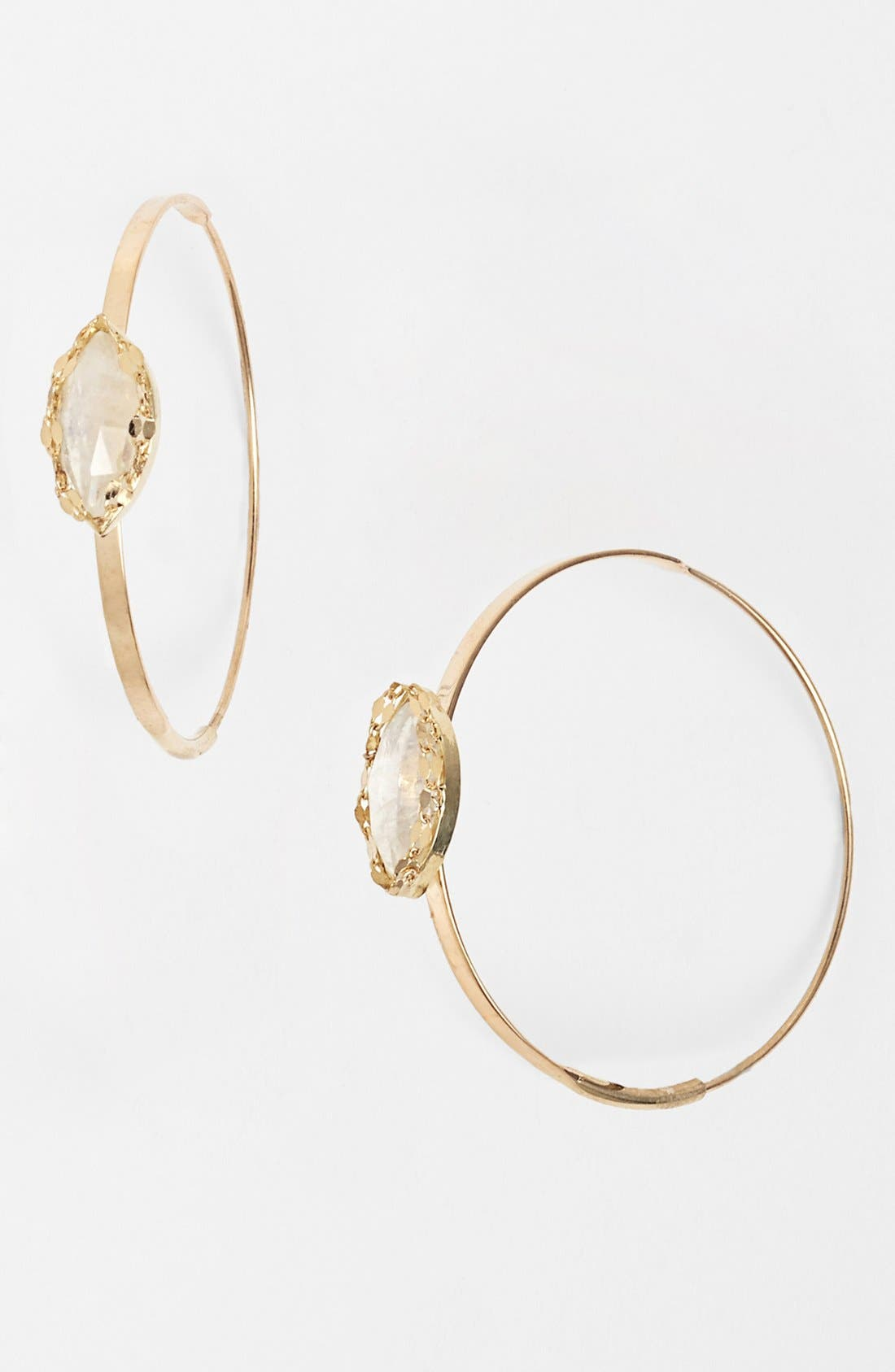 Alternate Image 1 Selected - Lana Jewelry 'Spellbound - Small Flat Magic' Station Hoop Earrings