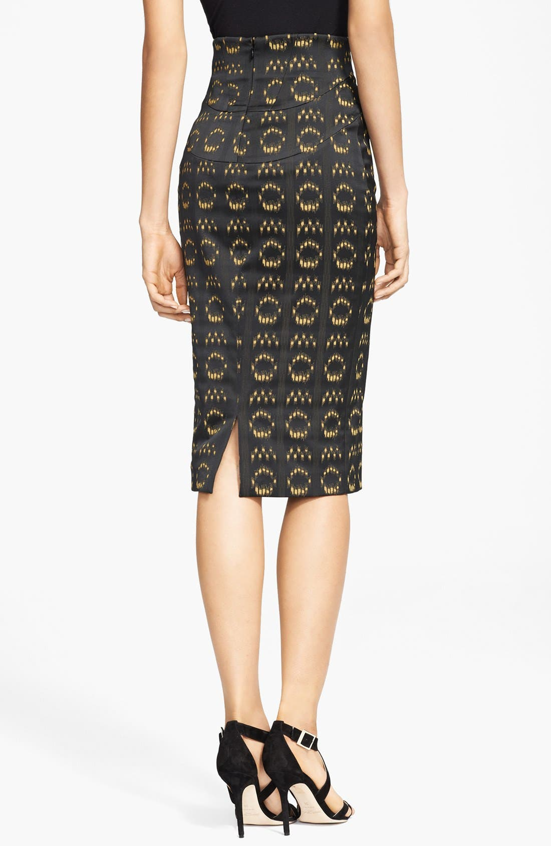 Alternate Image 2  - Versace Collection Jacquard Pencil Skirt