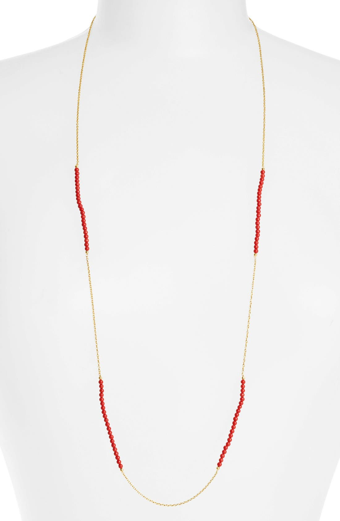 Alternate Image 1 Selected - Argento Vivo Long Bead & Link Necklace
