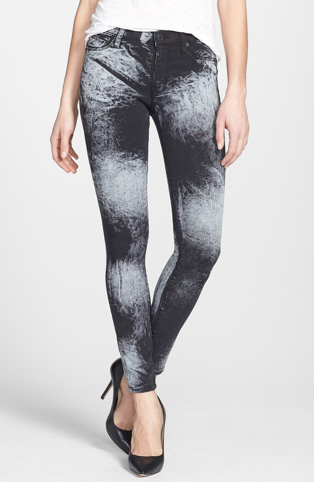 Alternate Image 1 Selected - Hudson Jeans 'Nico' Mid Rise Skinny Stretch Jeans (Sound Garden)