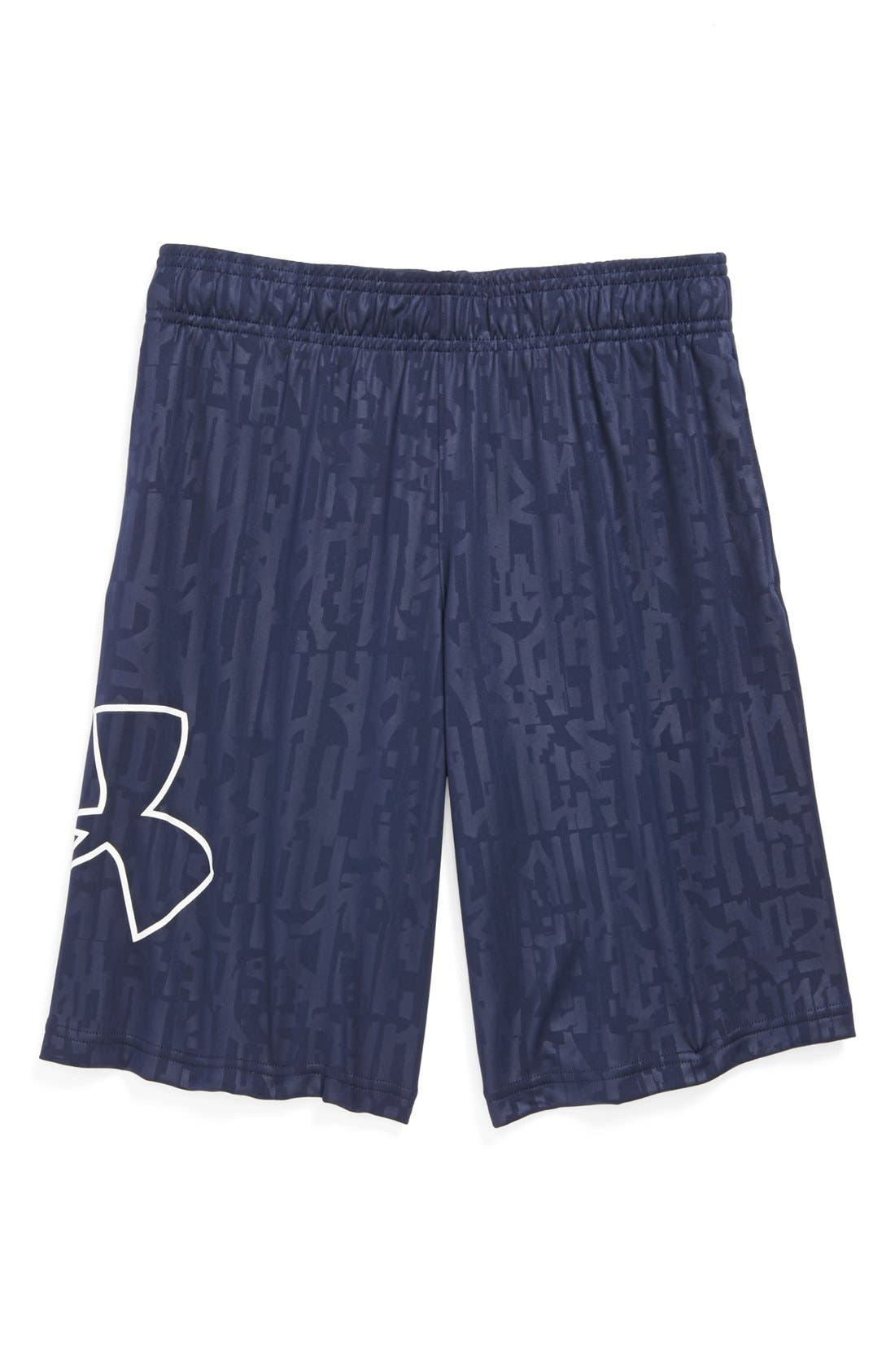 Alternate Image 1 Selected - Under Armour 'Allover Print' Shorts (Big Boys)