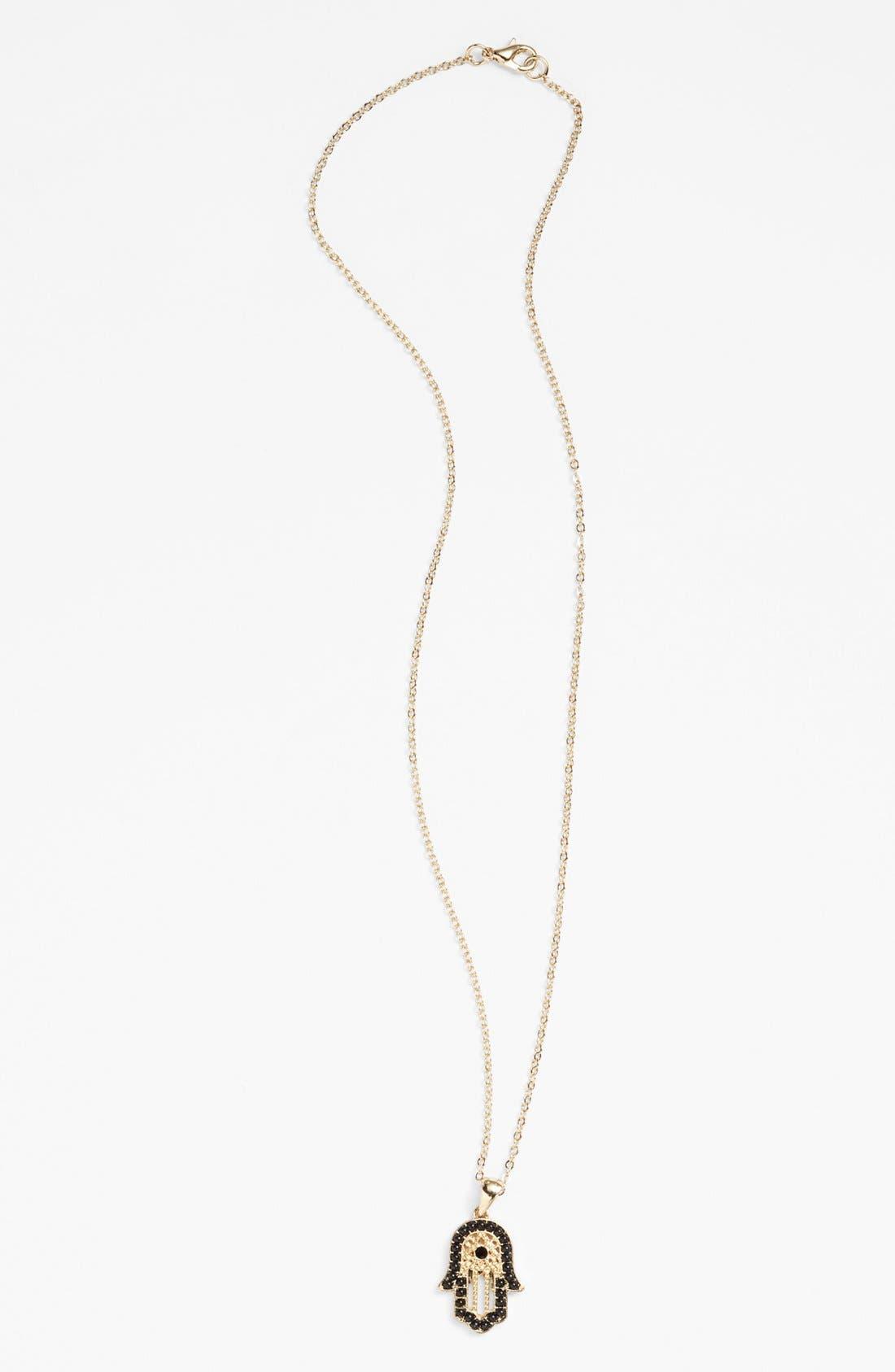 Alternate Image 1 Selected - Nico New York Hamsa Pendant Necklace