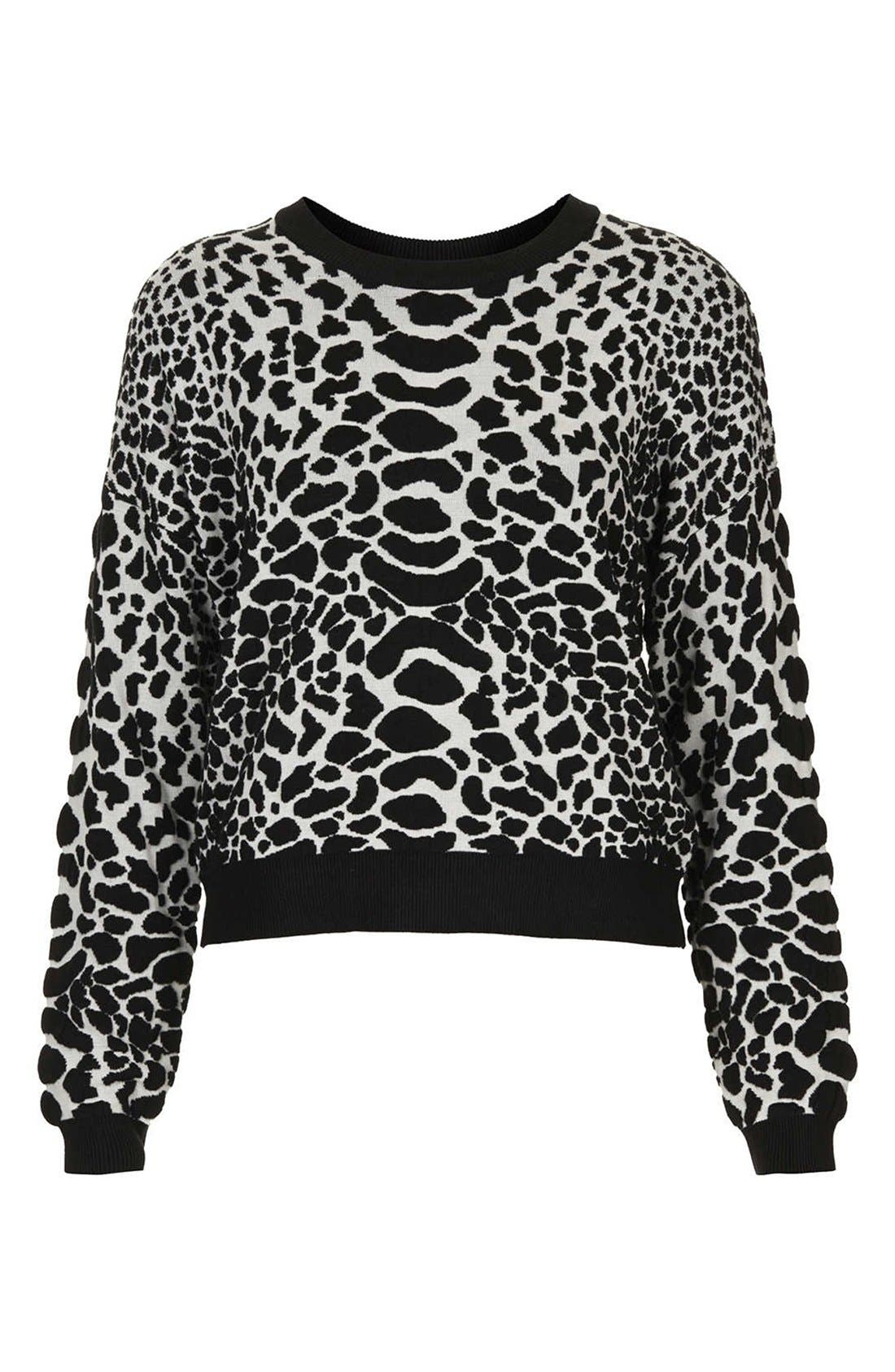 Alternate Image 3  - Topshop Quilted Animal Spot Sweater