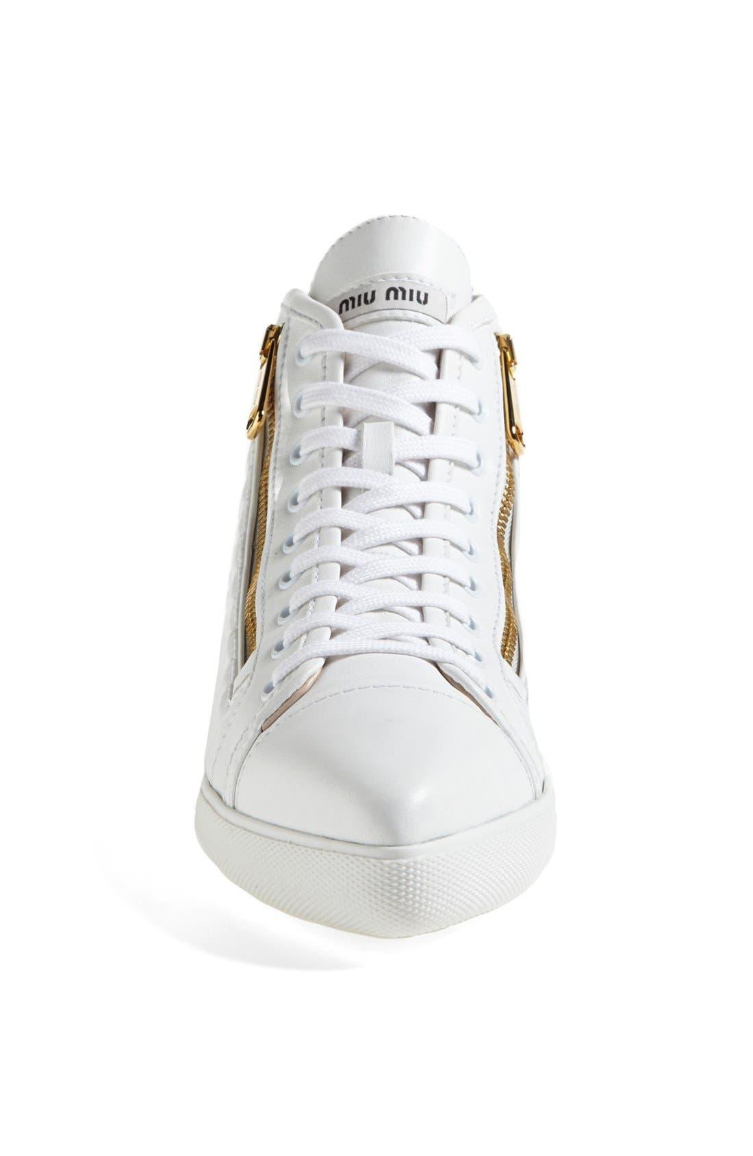 Alternate Image 3  - Miu Miu Side Zip High Top Sneaker